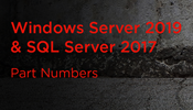 SQL Server 2017 with Windows Server 2019 Bundle Part Numbers