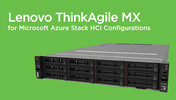 Lenovo ThinkAgile MX for Azure Stack HCI Validated Configurations
