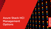 Azure Stack HCI Management Options