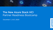 Azure Stack HCI Partner Readiness Bootcamp